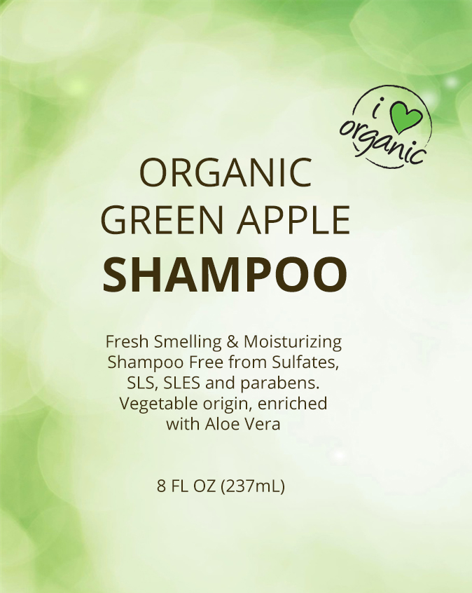 Shampoo - Organic Green Apple 8oz