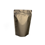 4 oz Bronze Matte Stand-up Pouch, Heat-sealable
