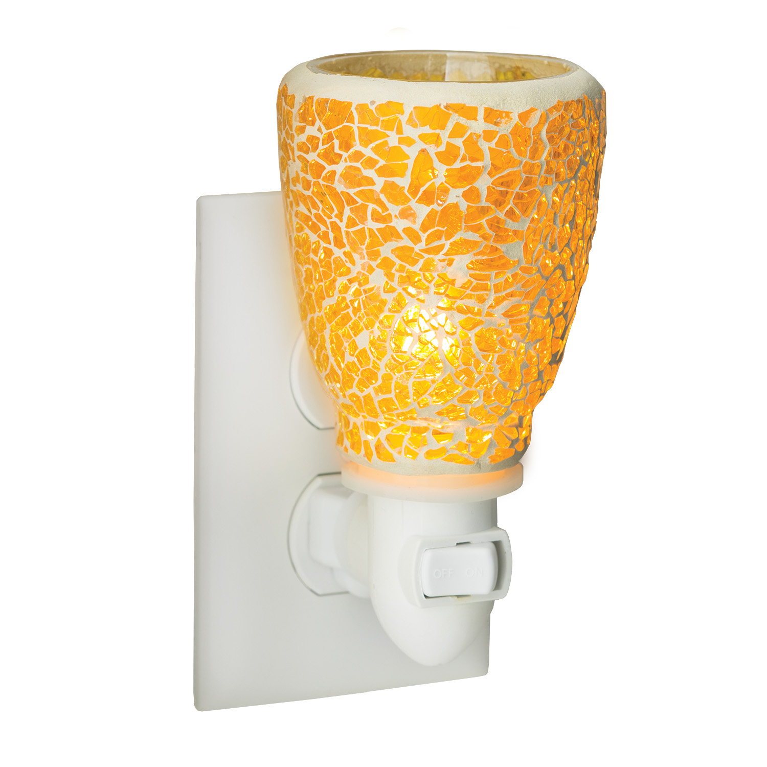 Crackled Amber Pluggable Fragrance Warmer