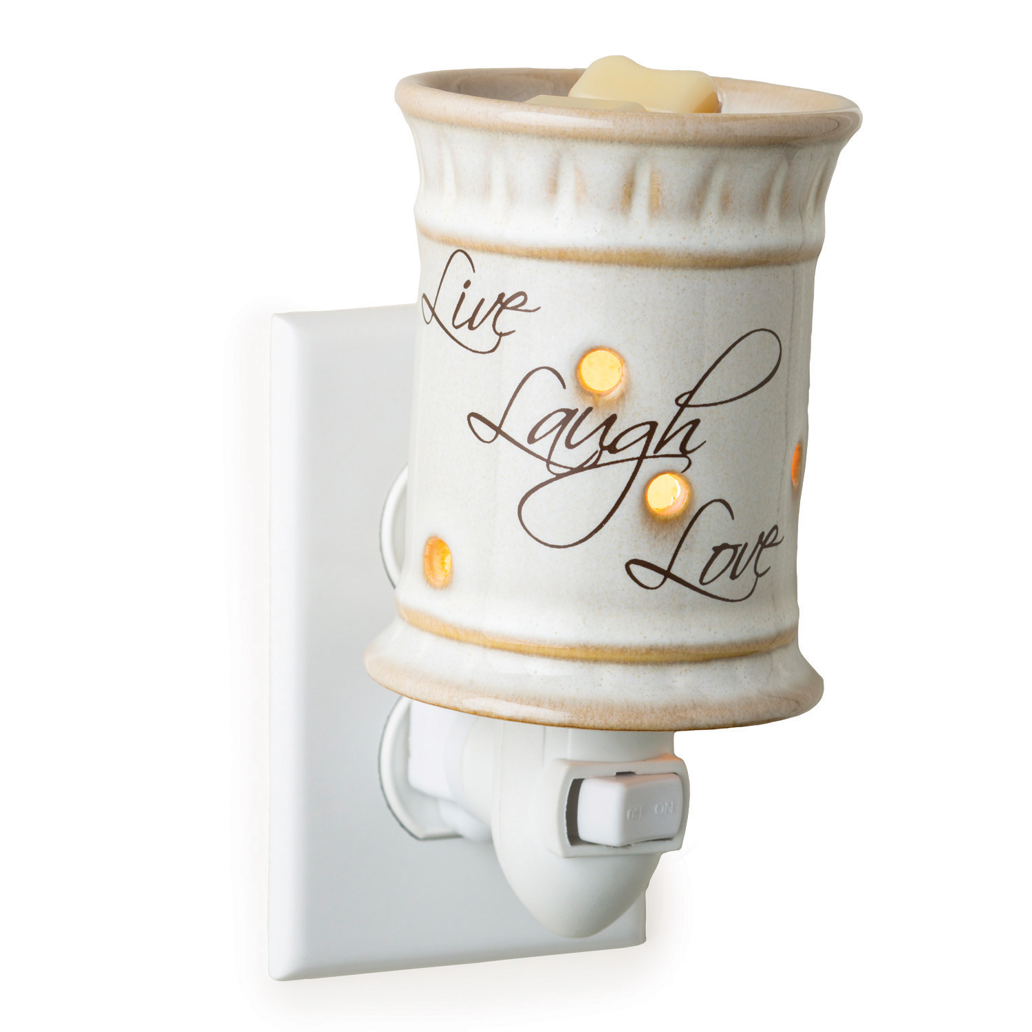 Plug-in Fragrance Warmer-Live, Love, Laugh