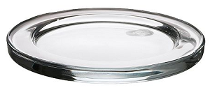 Candle Dish Round, glass